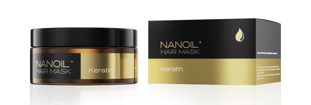 Regenerująca maska do włosów Nanoil Keratin